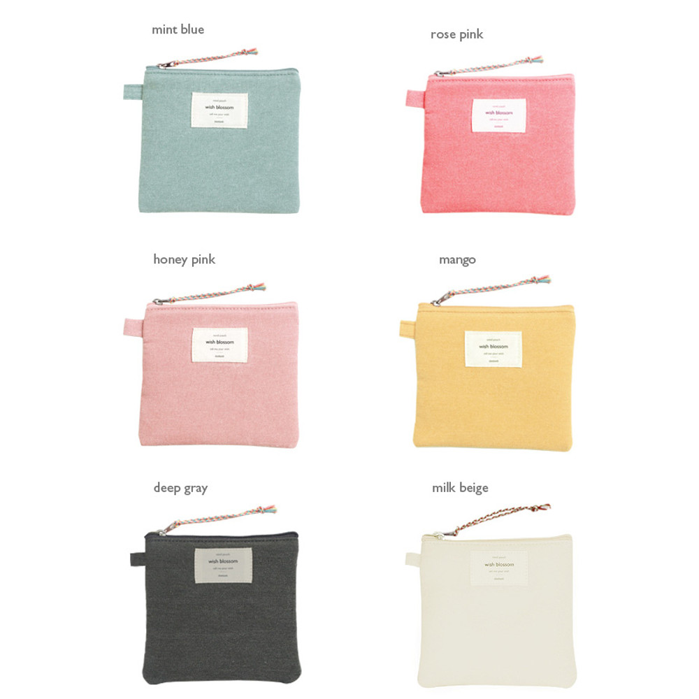 Colors of Wish blossom mind small zipper pouch