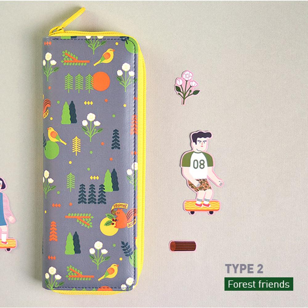 Forest friends - Du dum zip around pen case