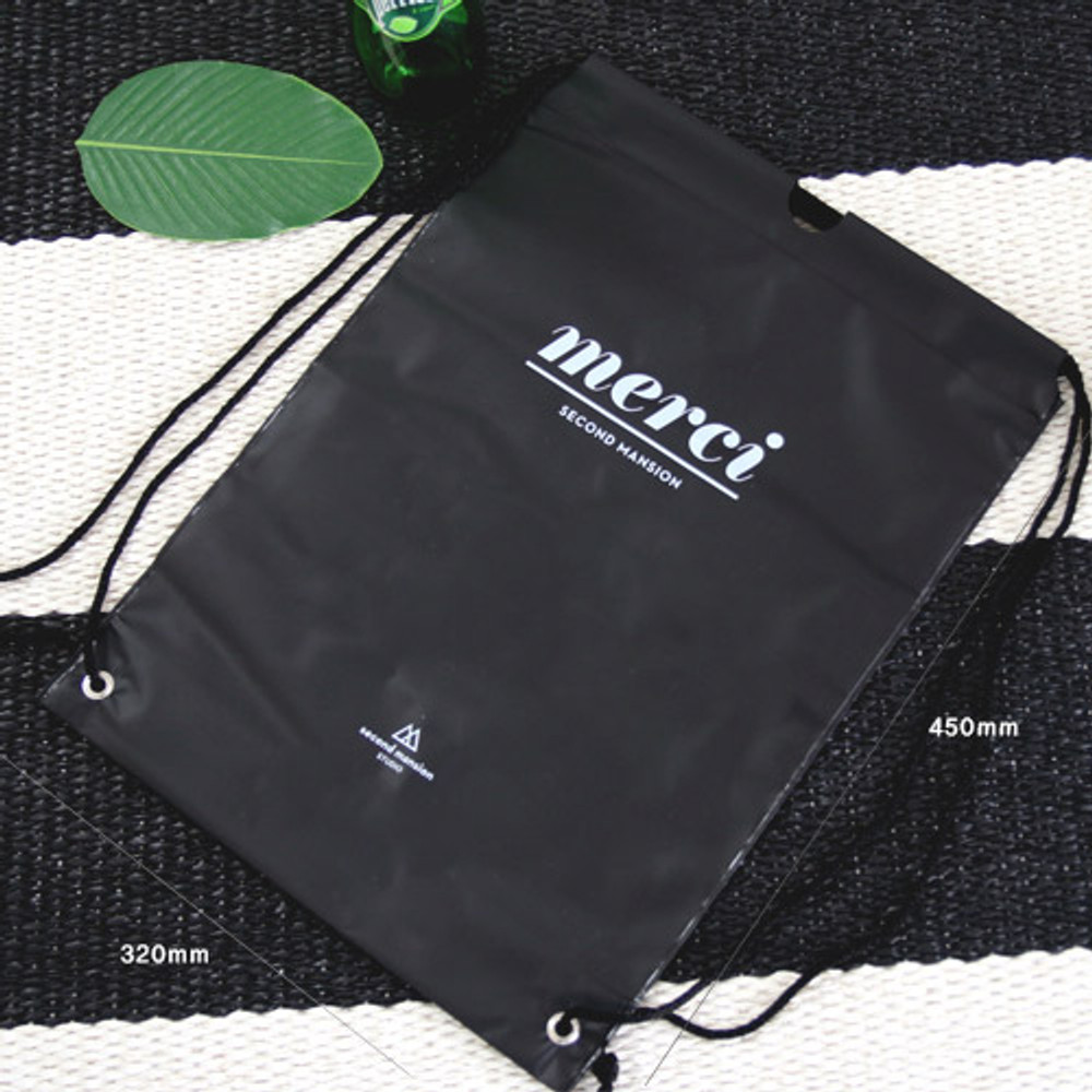 Size of Merci travel waterproof drawstring backpack