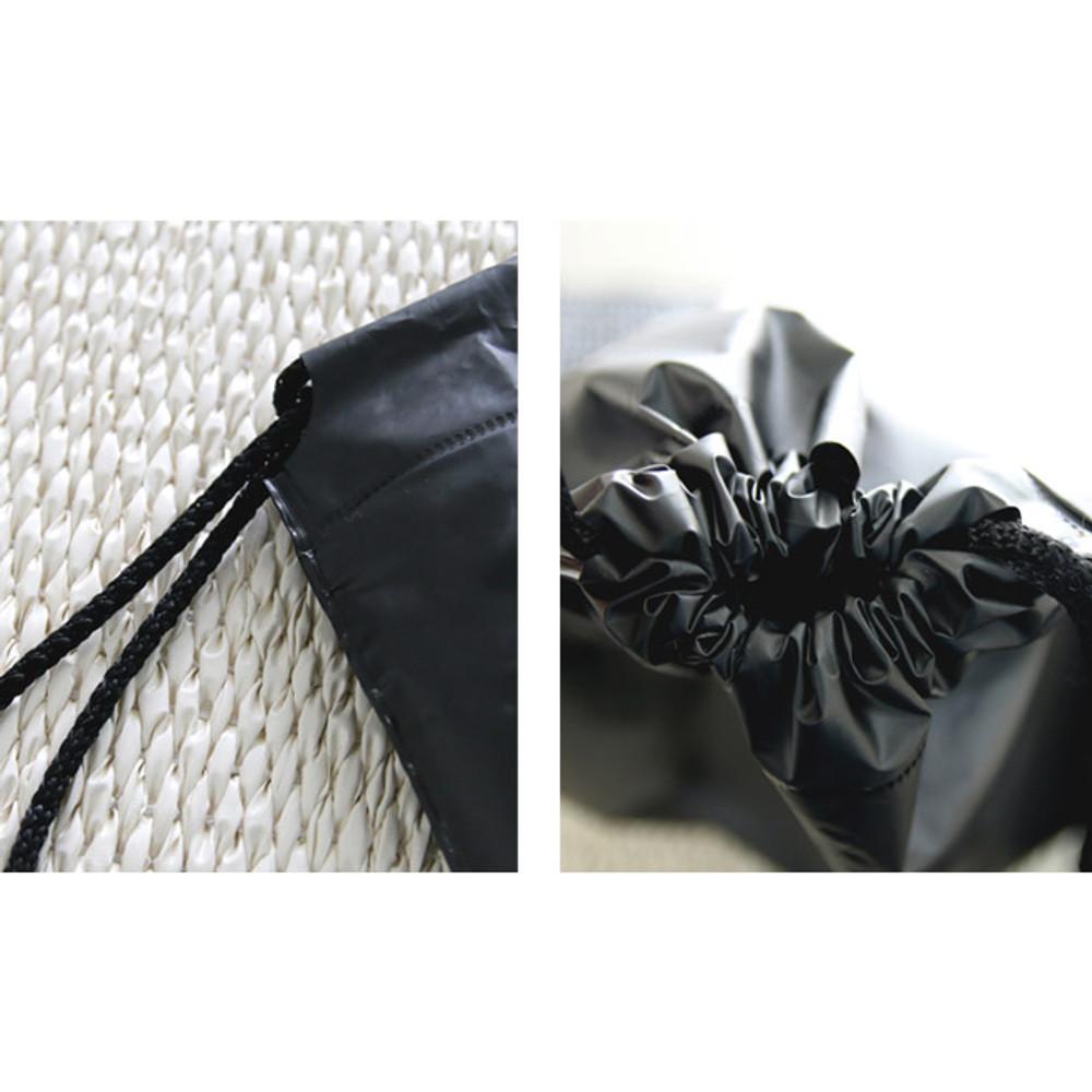 Detail of Merci travel waterproof drawstring backpack