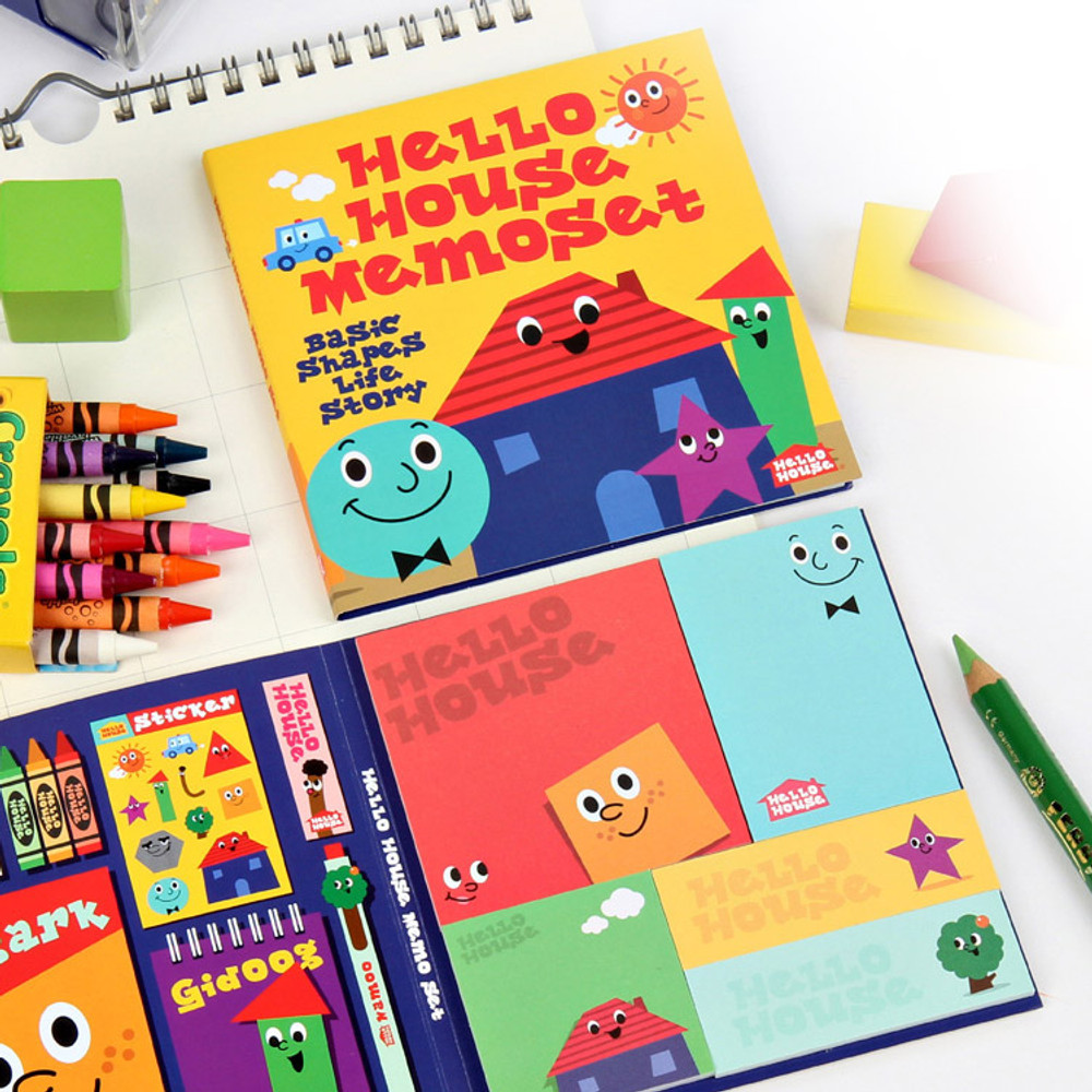 Hello house sticky memo note set