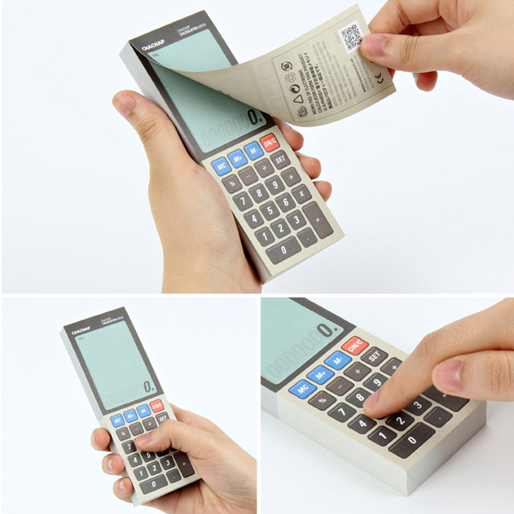 Detail of Electronic calculator memo pad