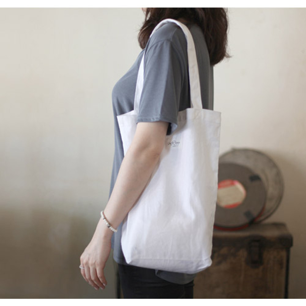 White - Natural and Pure gentle eco tote bag