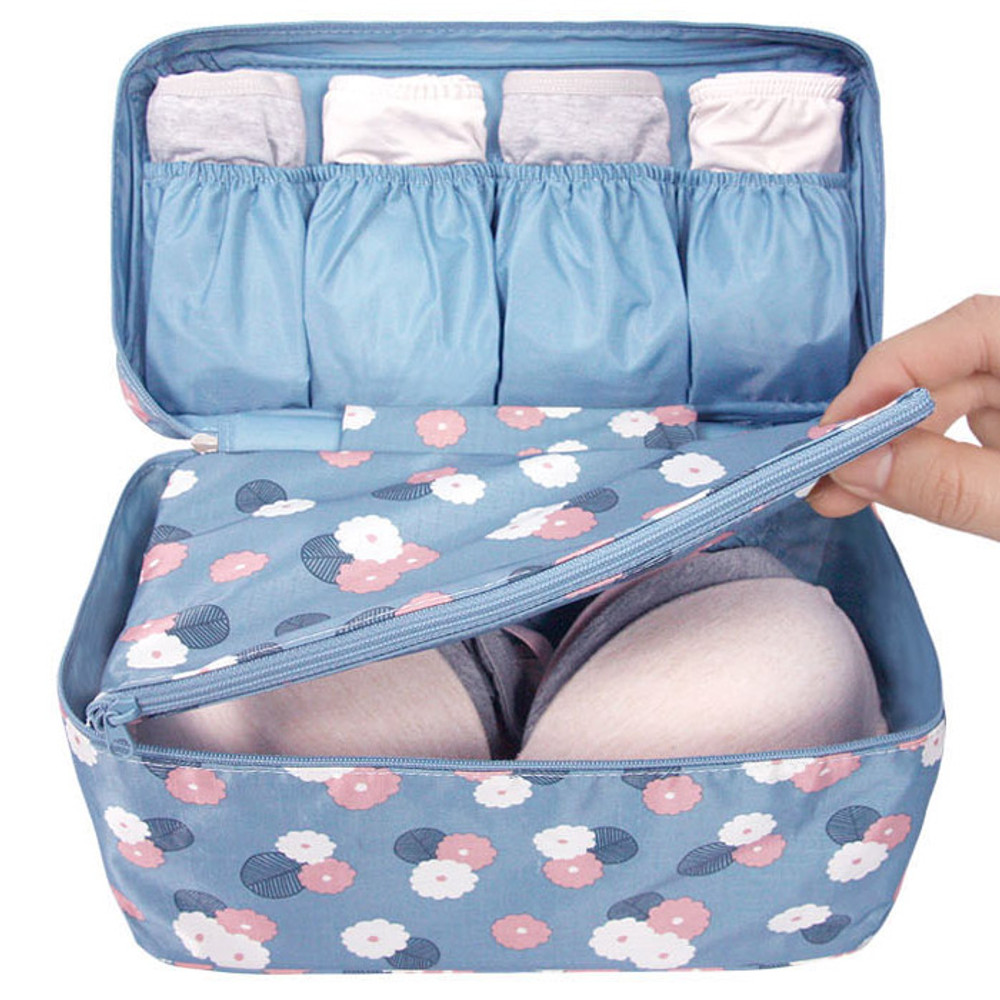 Pattern travel large pouch bag for underwear and bra