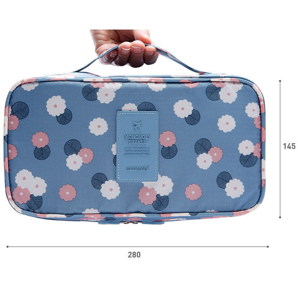 Size of Pattern travel large pouch bag for underwear and bra