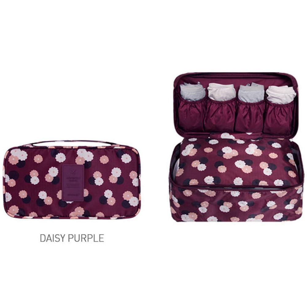 Daisy purple - Detachable zippered pouch