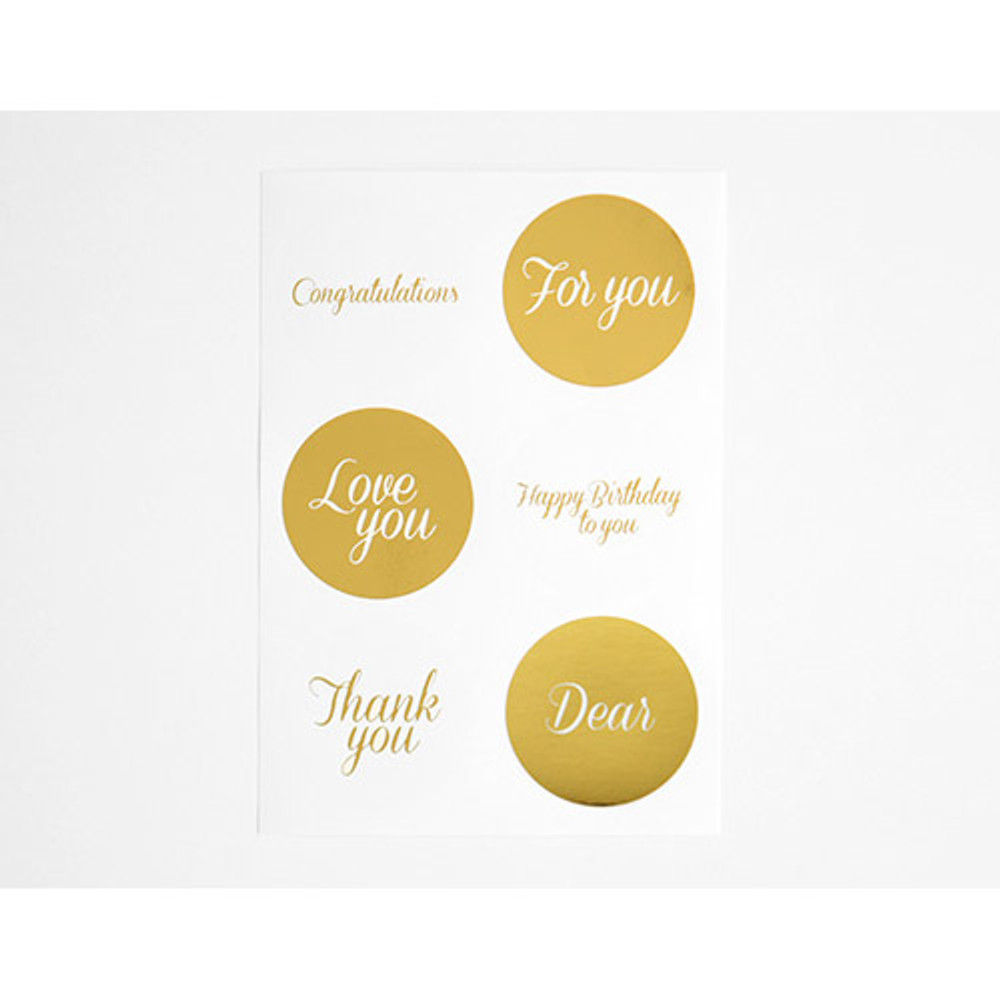 Message - Gold circle deco sticker