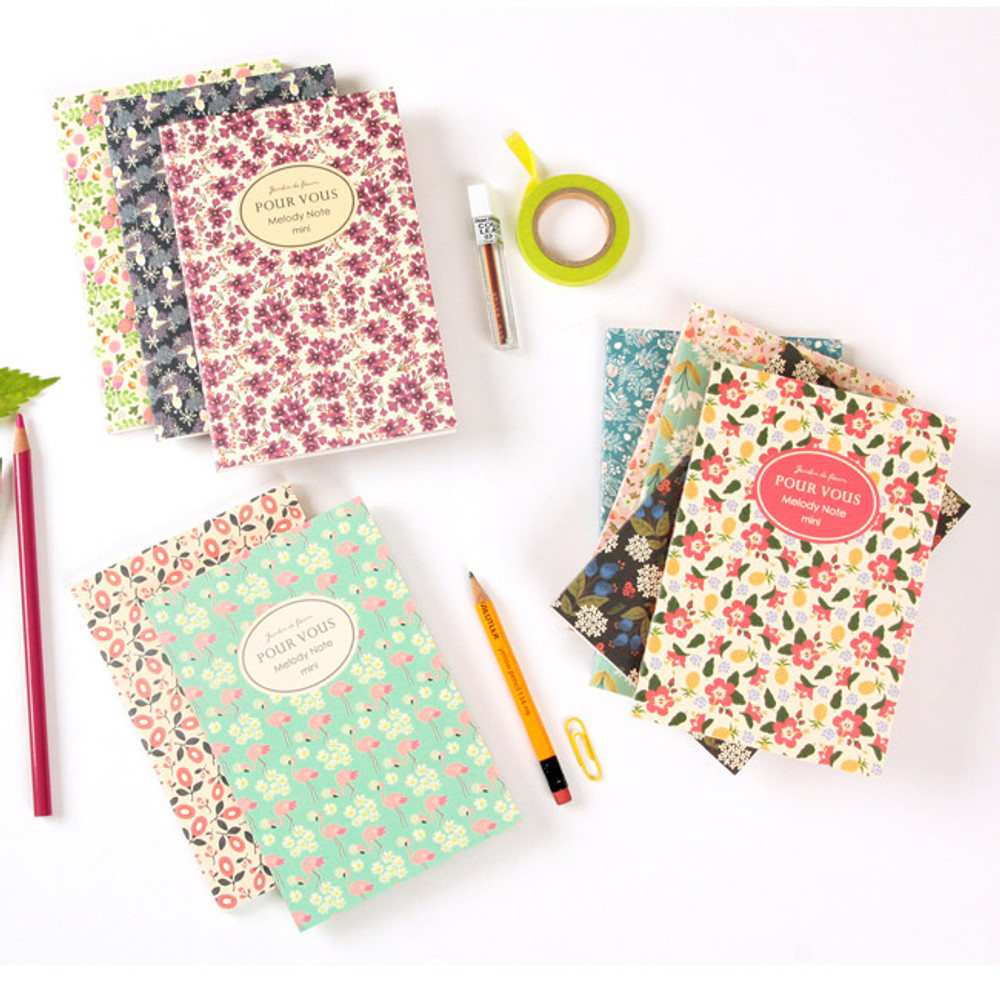 Pour vous melody lined notebook small