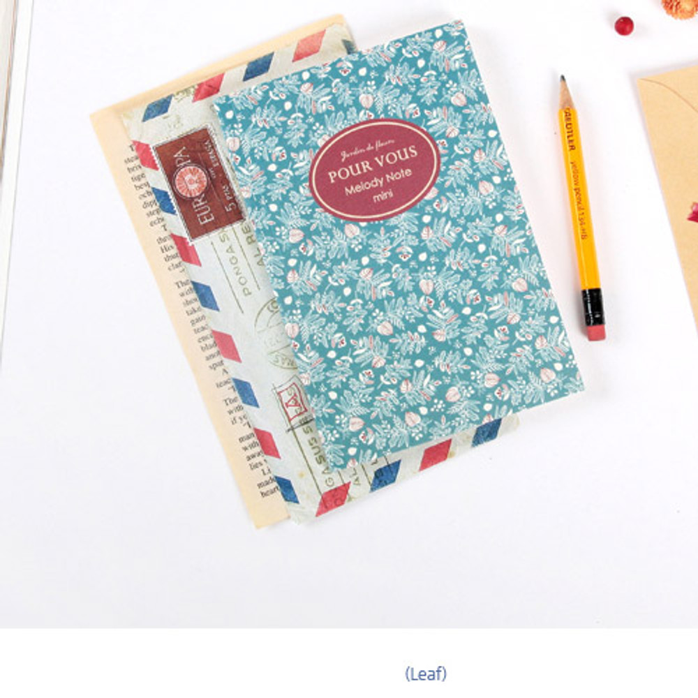 Leaf - Pour vous melody lined notebook small