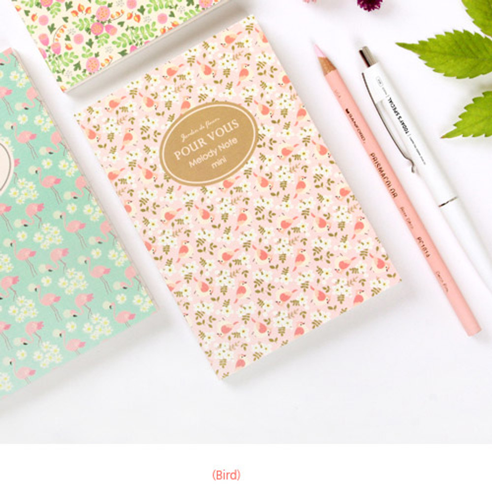 Bird - Pour vous melody lined notebook small