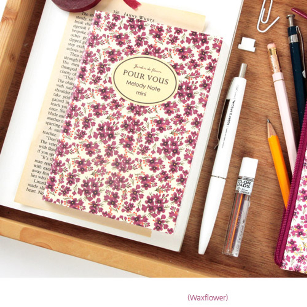 Waxflower - Pour vous melody lined notebook small