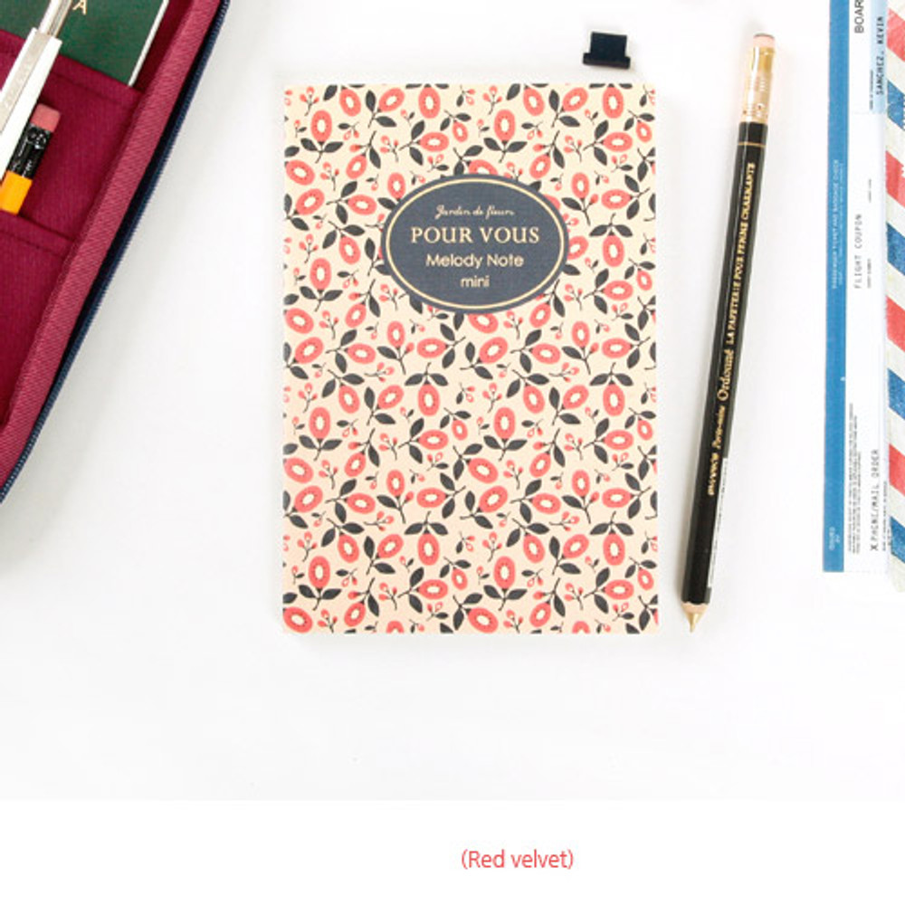 Red velvet - Pour vous melody lined notebook small