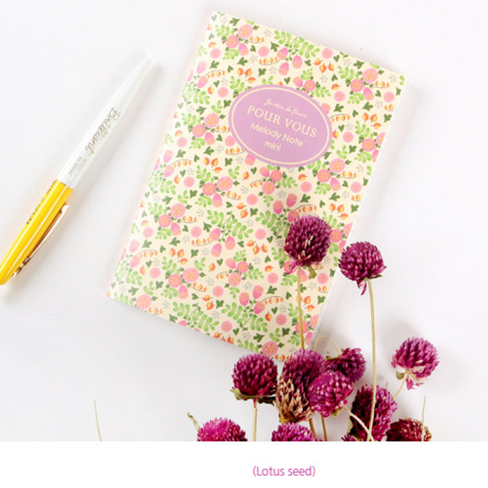 Lotus seed - Pour vous melody lined notebook small