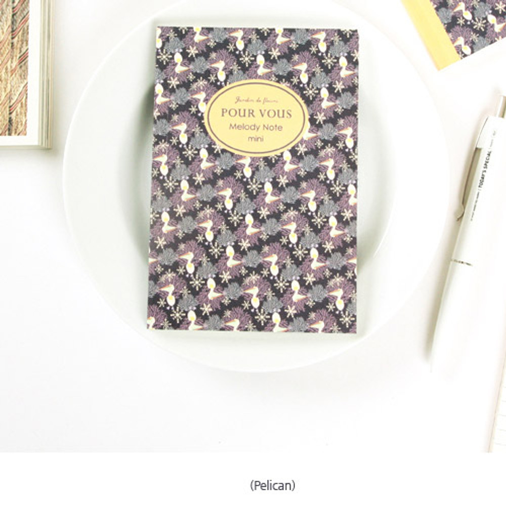 Pelican - Pour vous melody lined notebook small