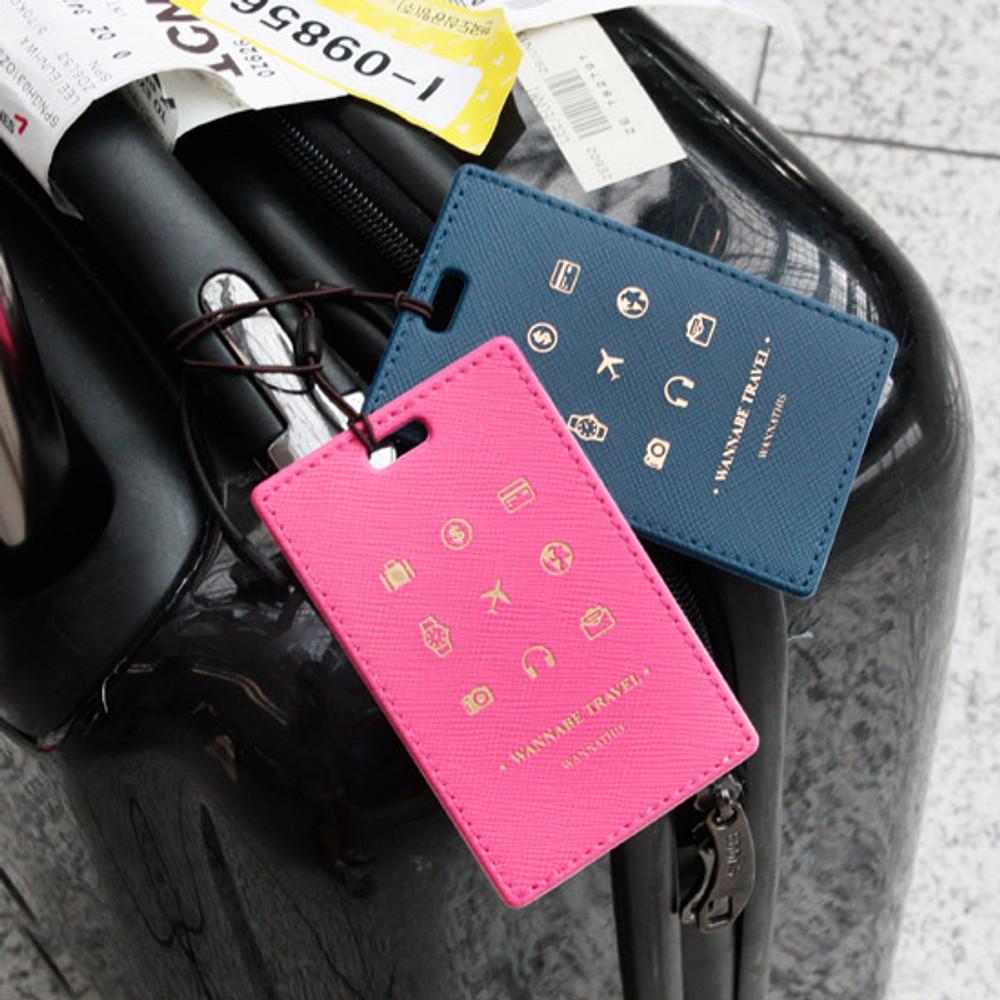 Wannabe pictogram travel luggage name tag