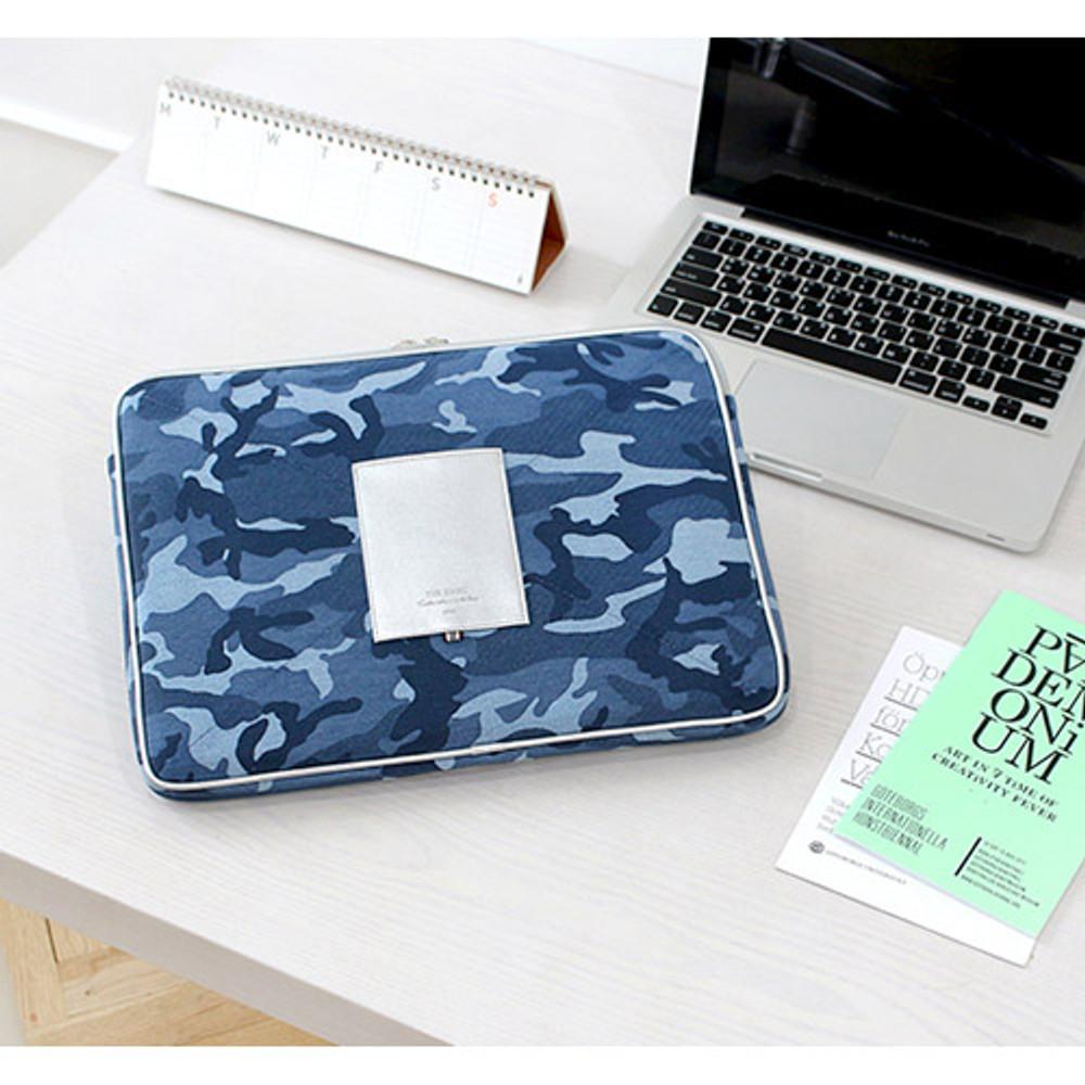 Military - The Basic cotton denim laptop pouch case 13 inch
