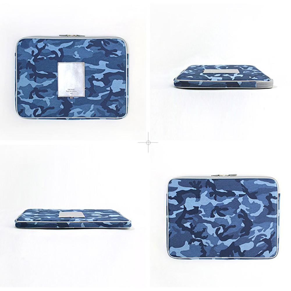 The Basic cotton denim laptop pouch case 13 inch