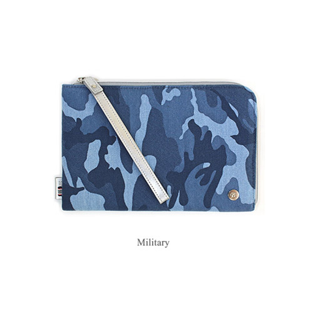 Military - The basic denim iPad mini pouch with a hand strap