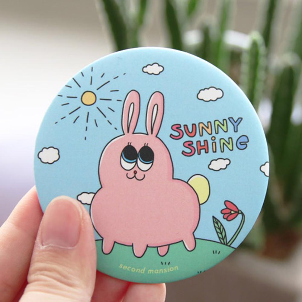 Sunny - Second mansion round handy mirror
