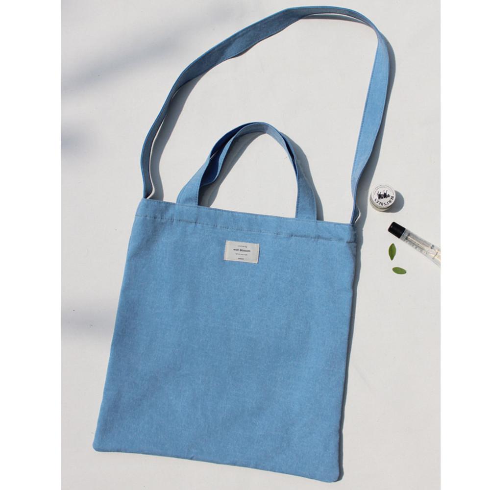 Blue ade - Wish blossom mind free shoulder tote