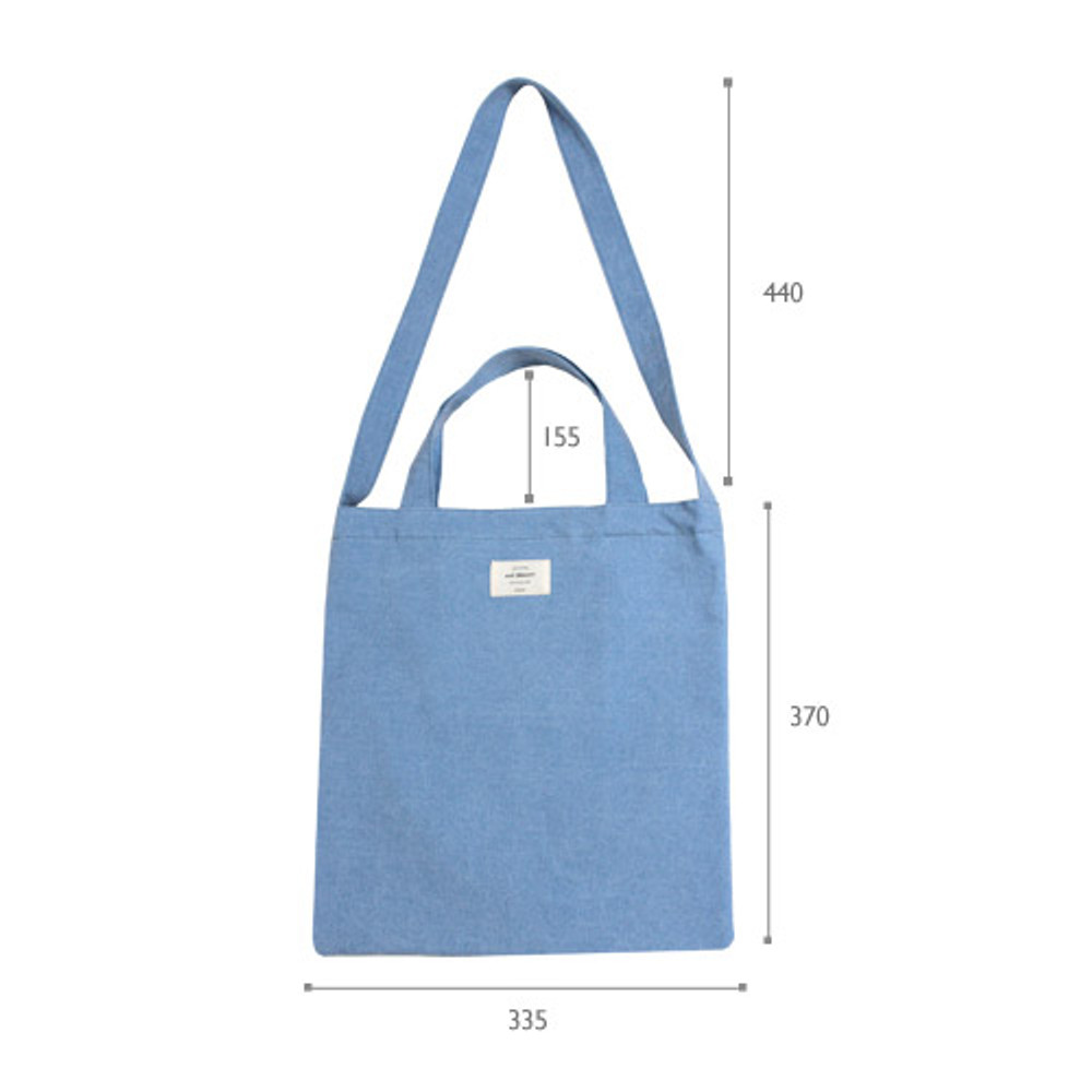 Size of Wish blossom mind free shoulder tote