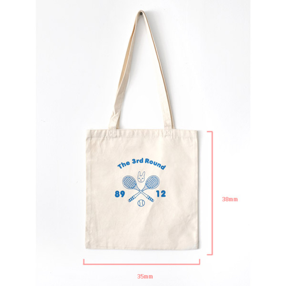Size of Hellogeeks one point eco tote bag