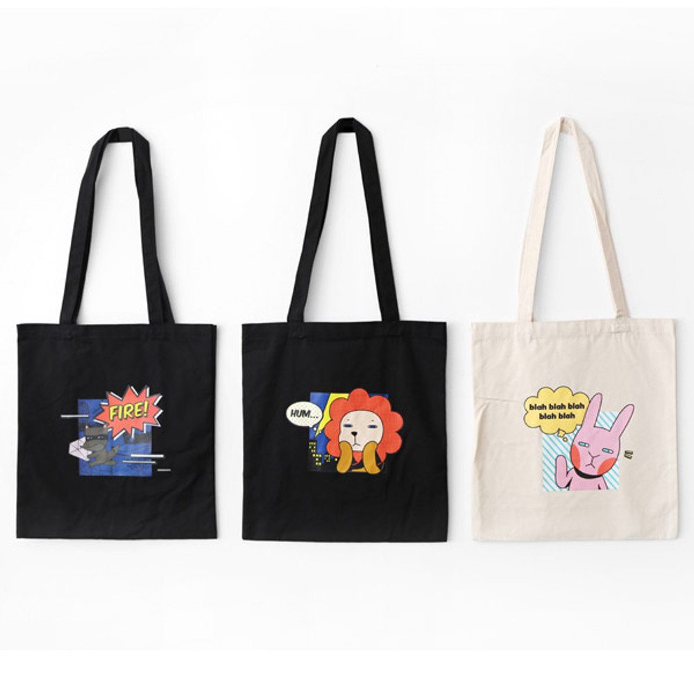 Hellogeeks pop art eco tote bag