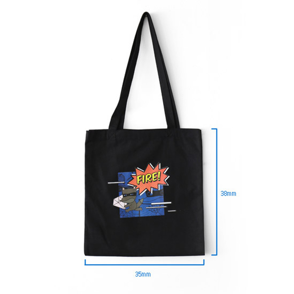 Size of Hellogeeks pop art eco tote bag