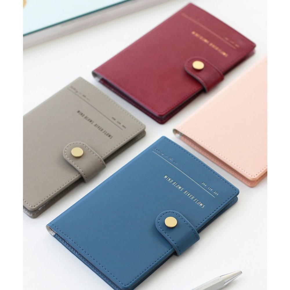 Snap button RFID blocking passport case
