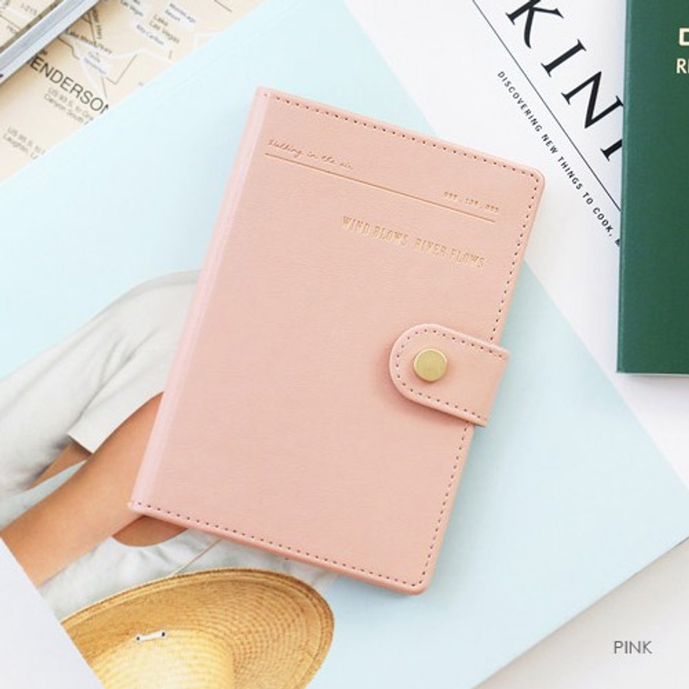 Pink - Snap button RFID blocking passport case