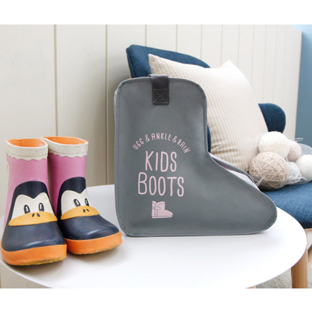 Gray - Pastel scandic kids boots storage bag