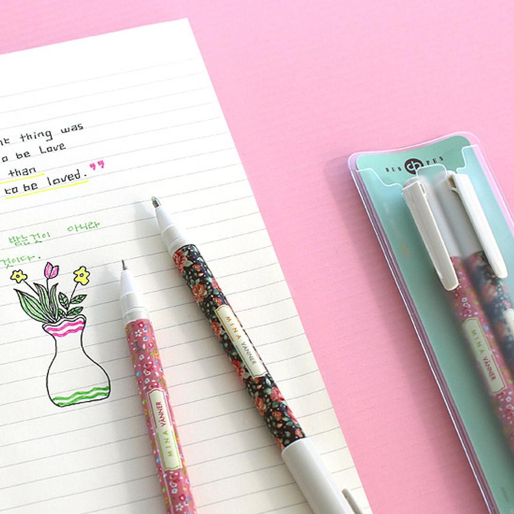 Pattern - Bright color twin gel pen set