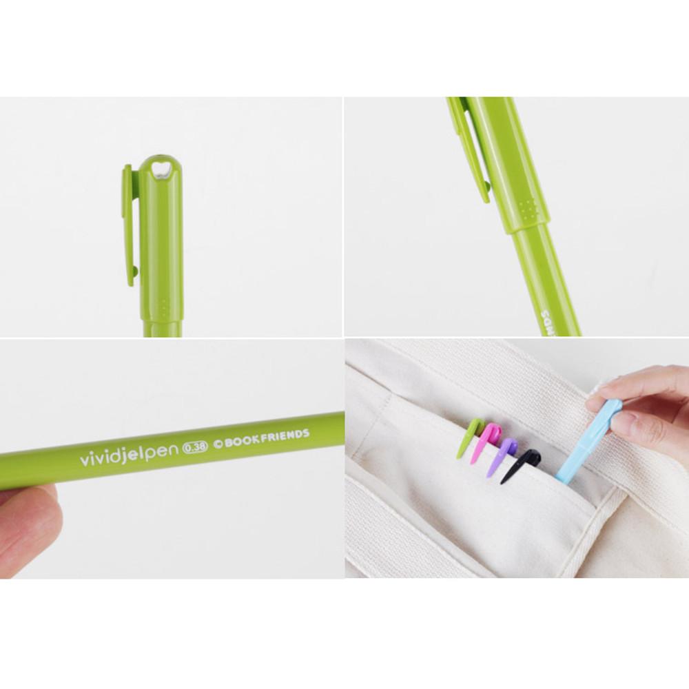 Detail of Rainbow vivid color gel pen 0.38mm set of 5