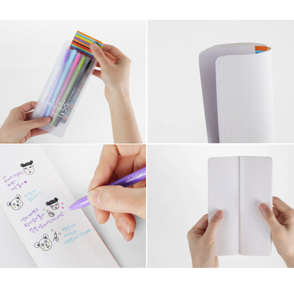 Rainbow vivid color gel pen 0.38mm set of 5