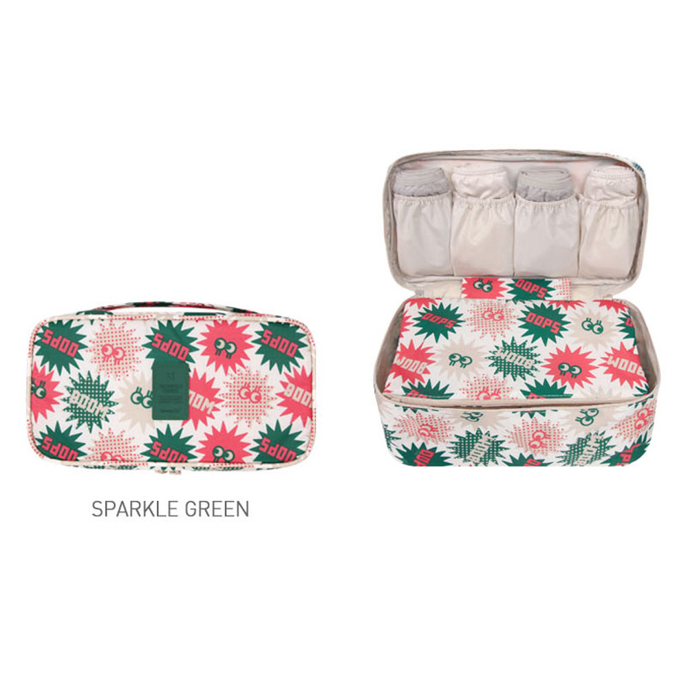 Sparkle green - Merrygrin travel large pouch bag for underwear