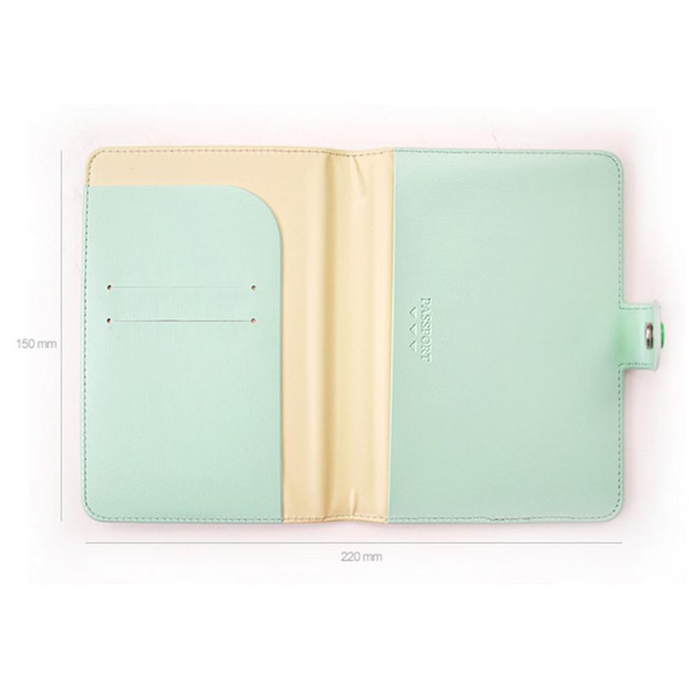 Size of 365 Traveler pastel passport case