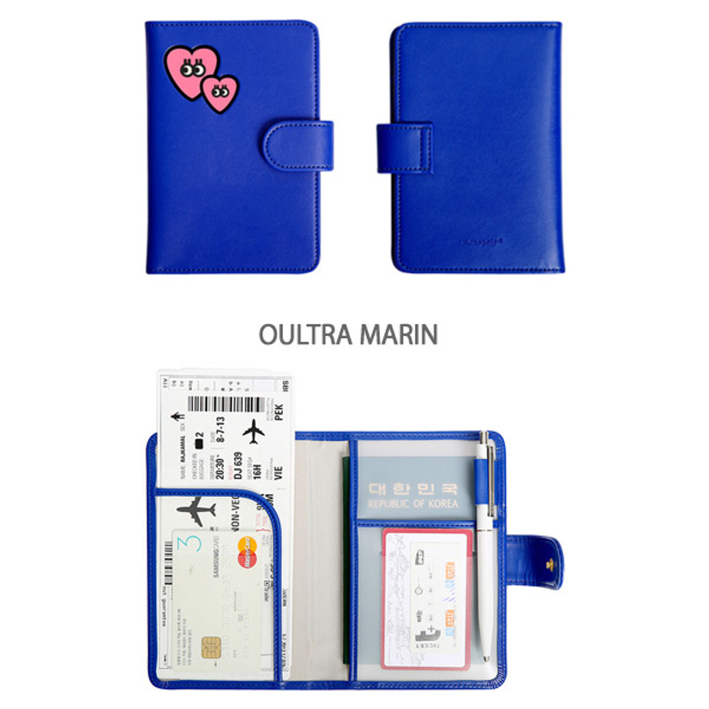 Oultra marin - Merrygrin RFID blocking small passport case