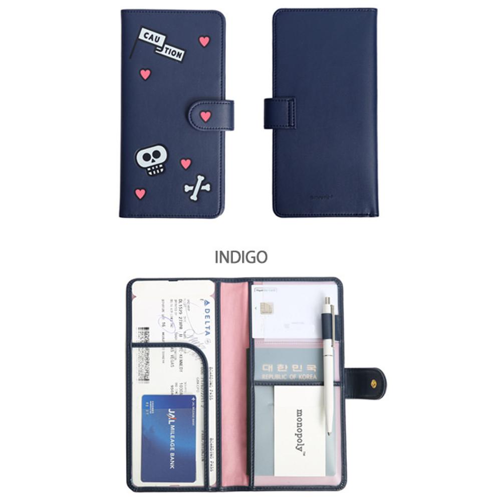 Indigo - Merrygrin RFID blocking long passport case