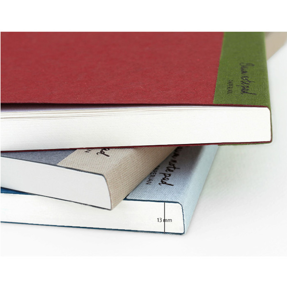 Thickness of Baum simple A5 size plain notepad