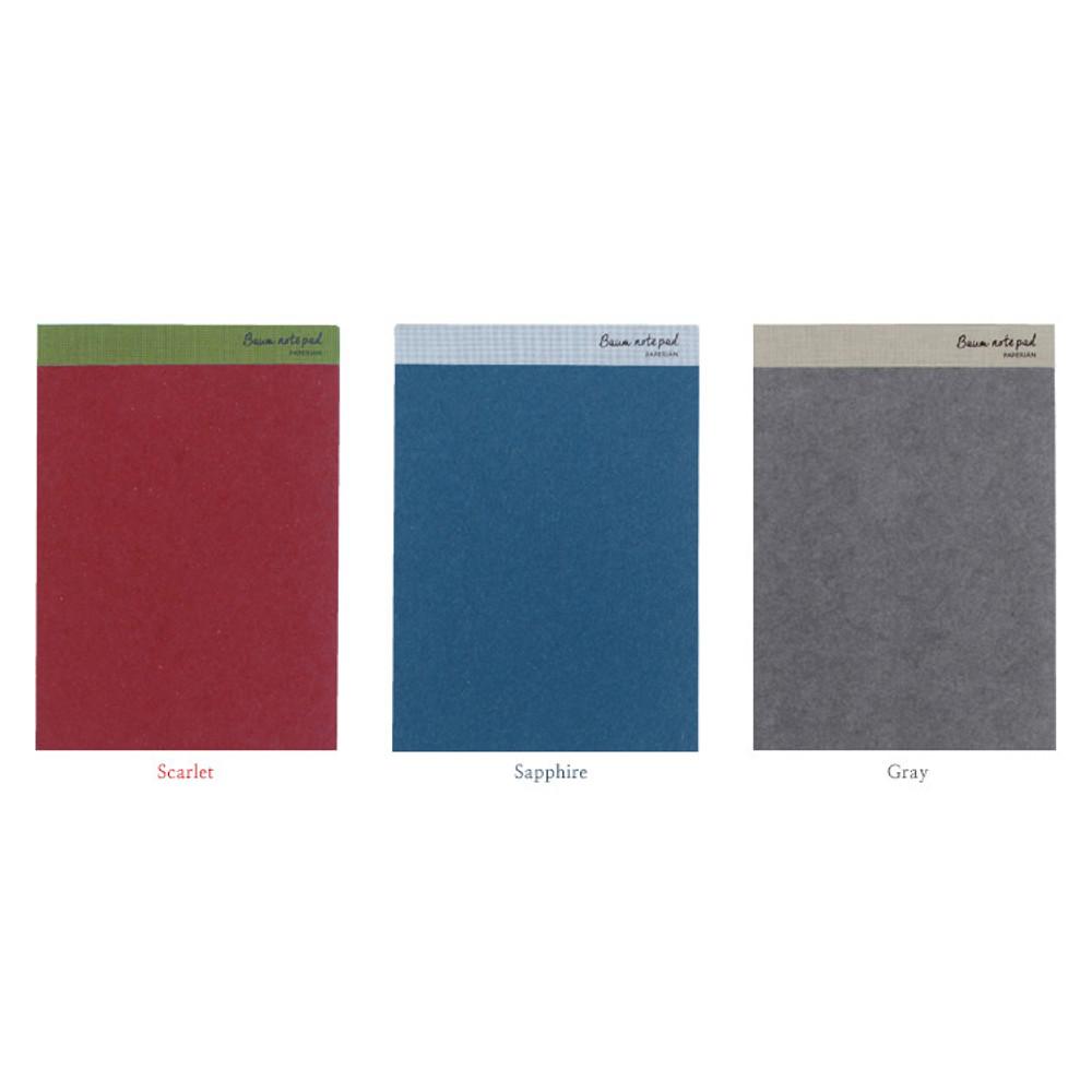 Colors of Baum simple A5 size plain notepad