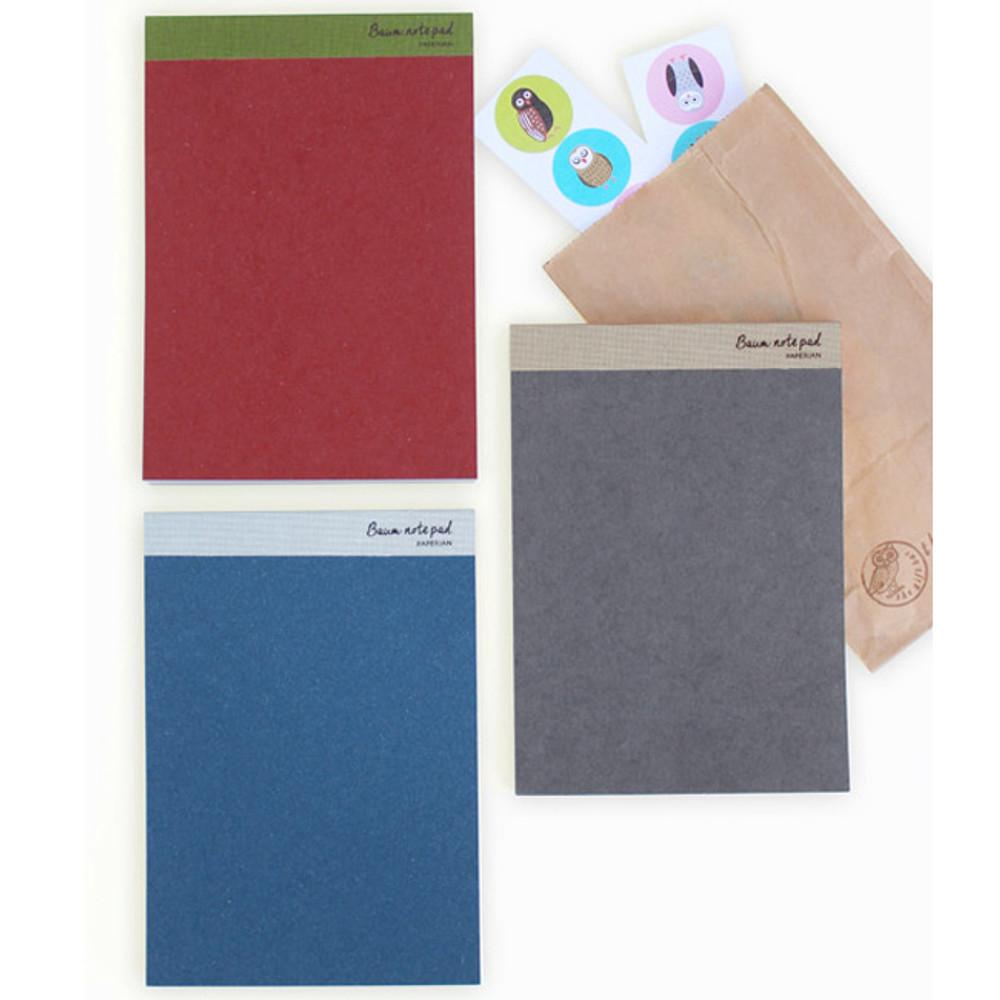Baum simple A5 size plain notepad