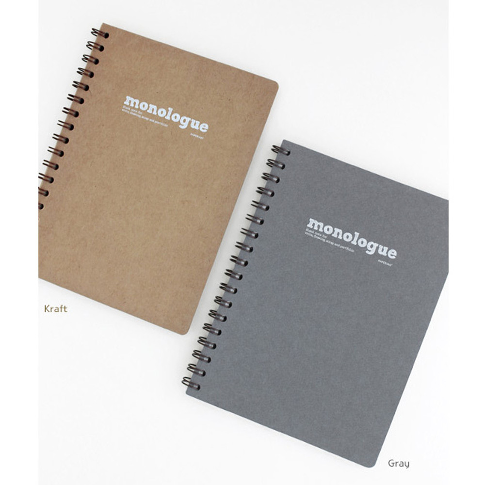 Colors of Monologue wirebound plain notebook