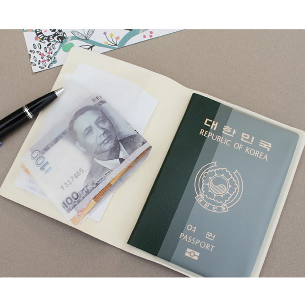 Blossom garden RFID blocking passport case