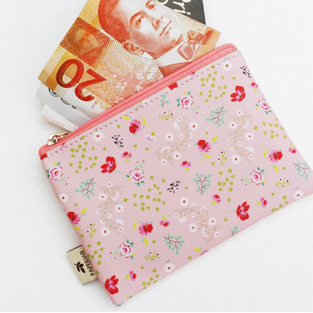 Paulie - Blossom garden small zipper pouch