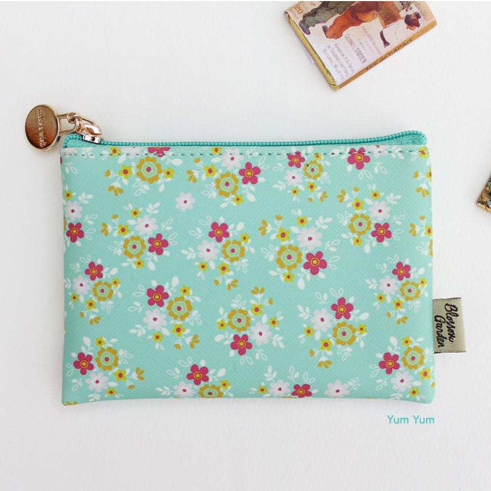 Yum yum - Blossom garden small zipper pouch