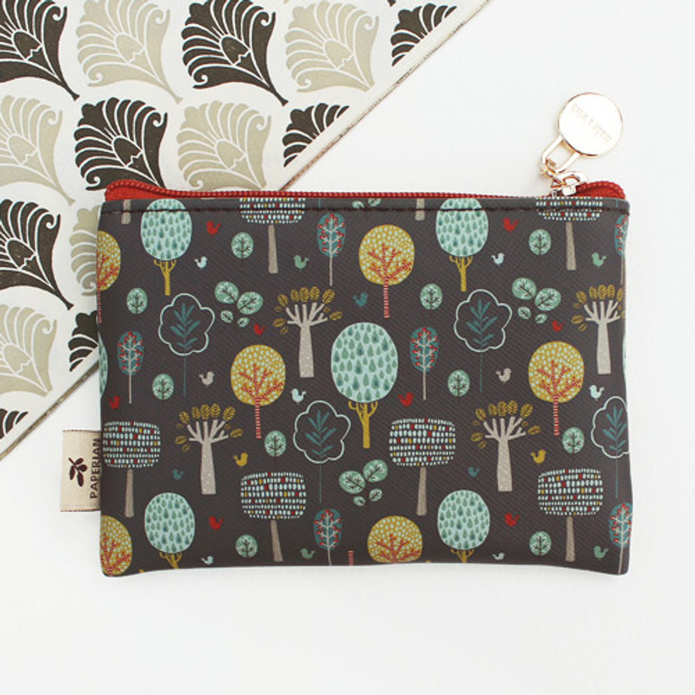 Central park - Blossom garden small zipper pouch