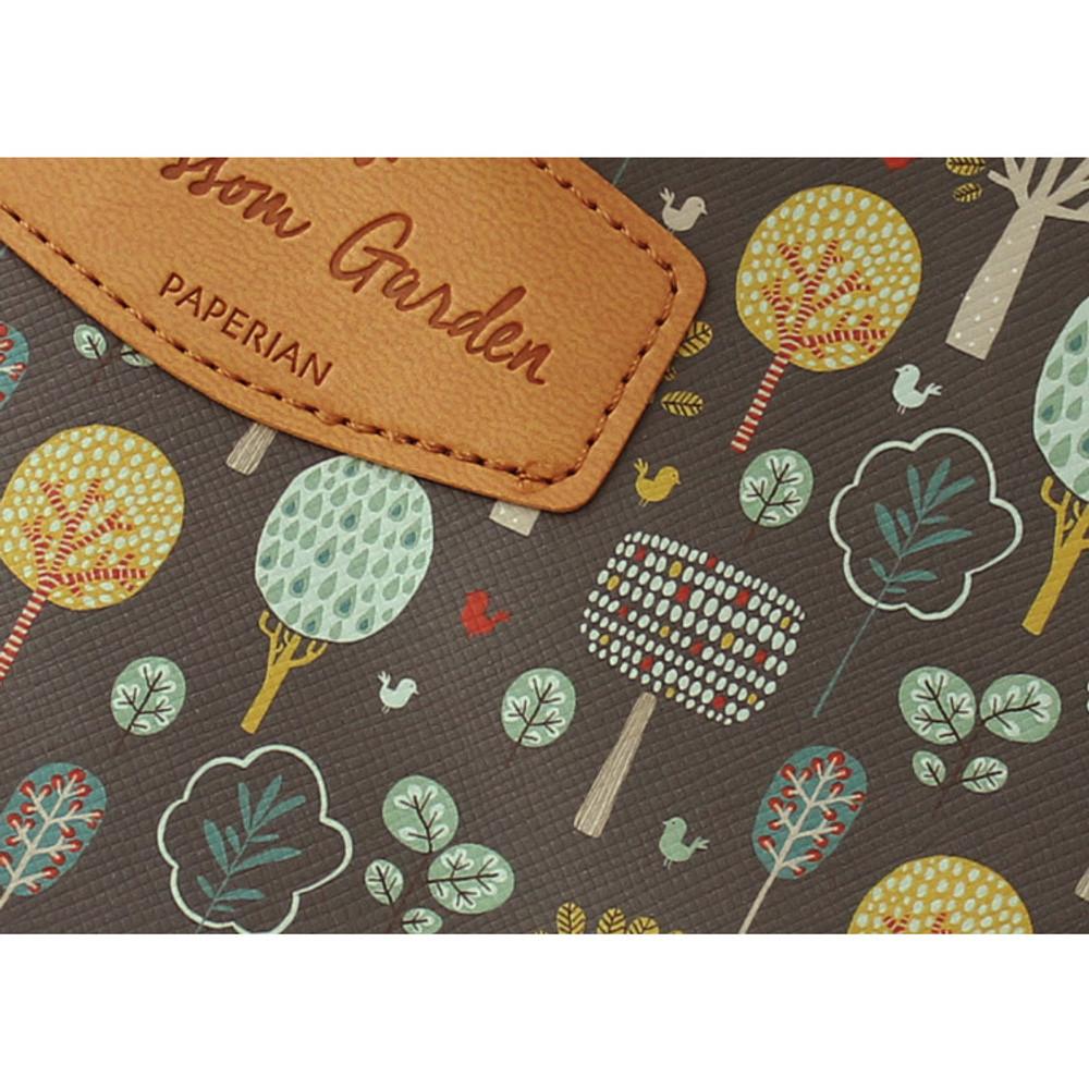 Detail of Blossom garden multi zipper pouch
