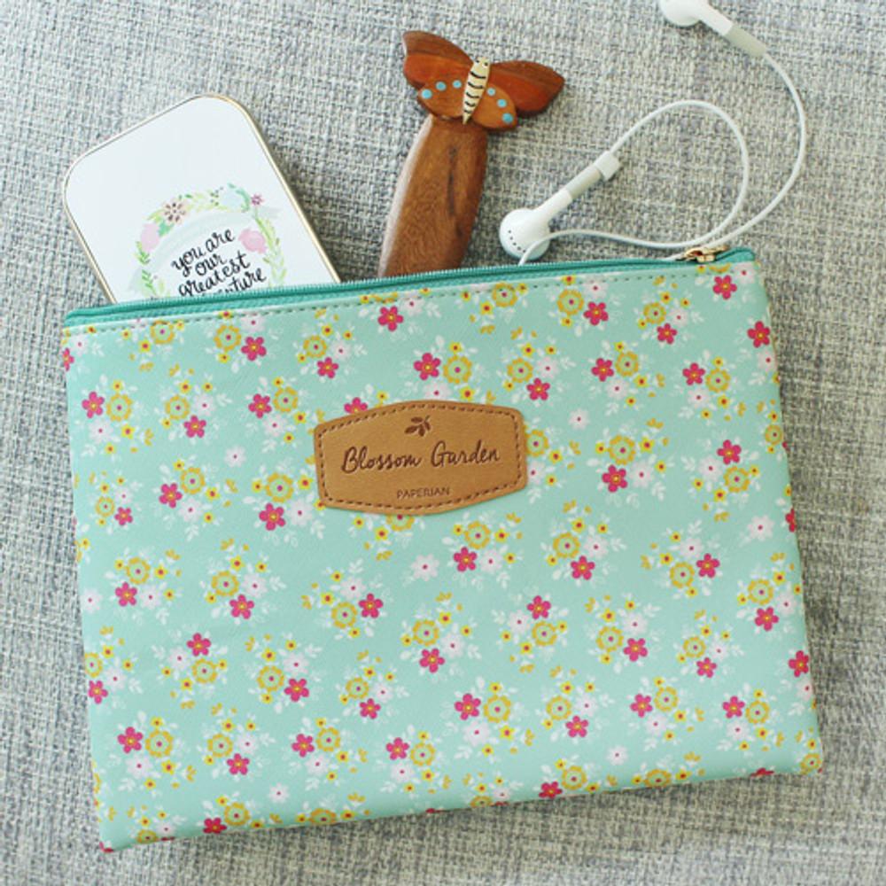 Yum Yum - Blossom garden large zipper pouch