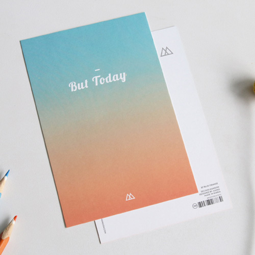 But today design message card