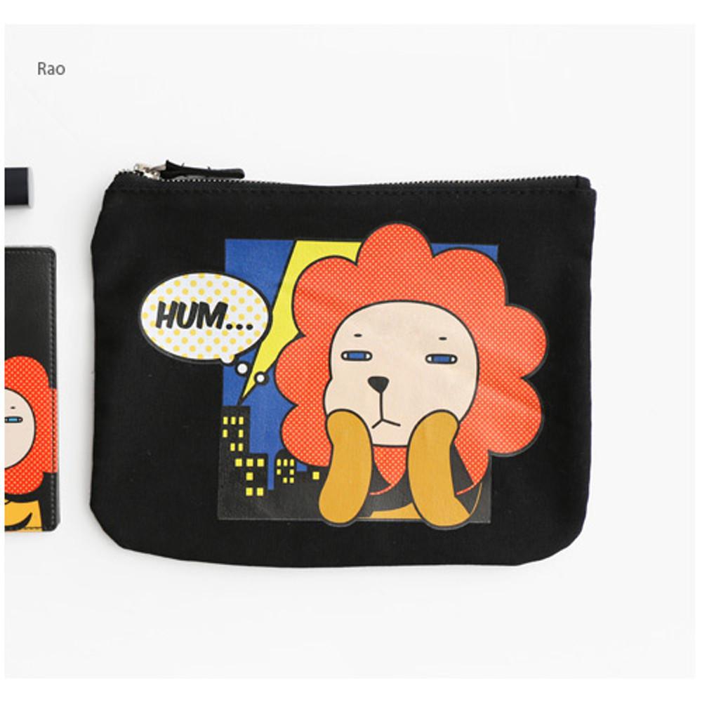 Rao - Hellogeeks pop art canvas pouch